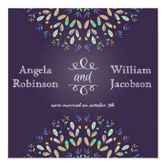 Romantic Floral Chalkboard Post Wedding Invitation