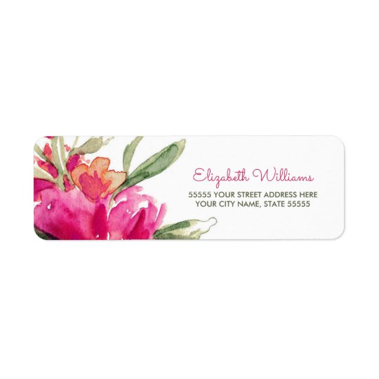 Romantic Floral Design Return Address Labels