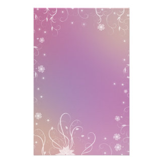 Romantic Floral Design Stationery