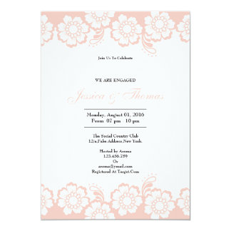 Romantic Floral Engagement Card