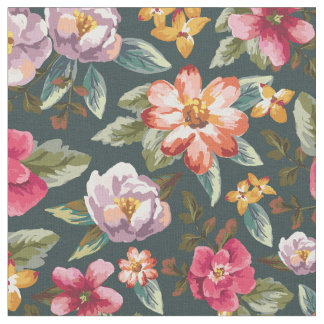 Romantic Floral Pattern | Vintage Flowers Fabric