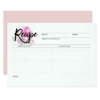 Romantic Floral | Recipe Cards