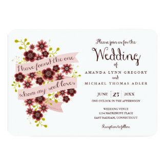 Romantic Floral Song of Solomon Wedding Invitation