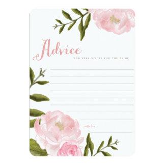 Romantic Floral Wedding Advice Cards