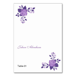 Romantic Floral Wedding Place card