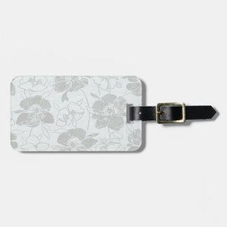 Romantic Flower blue/grey Luggage Tag