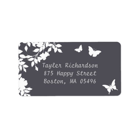 Romantic Flower Border | Wedding Address Label