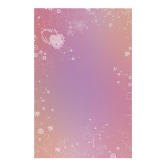 Romantic Flower Design Stationery