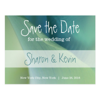 Romantic Flower in Blue Tones - Save the Date Postcard