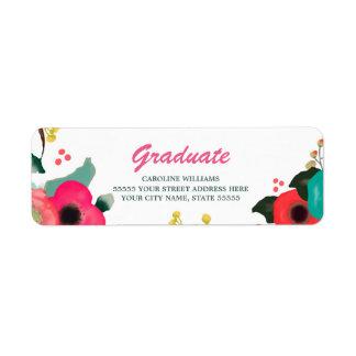 Romantic Flowers | Graduation Address Labels