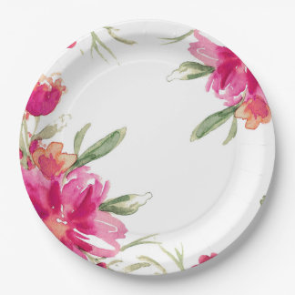 Romantic Flowers | Graduation Party Paper Plates