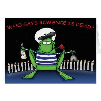Romantic Frog Greeting Card