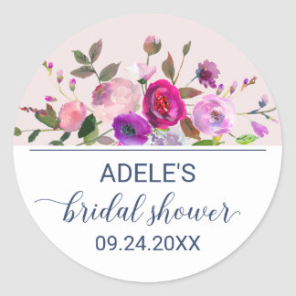 Romantic Garden Bridal Shower Classic Round Sticker