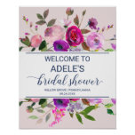 Romantic Garden Bridal Shower Welcome Poster