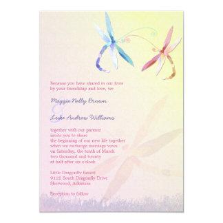 Romantic Garden Dragonfly Wedding 13 Cm X 18 Cm Invitation Card