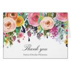 Romantic Garden Floral Watercolor Thank you Card