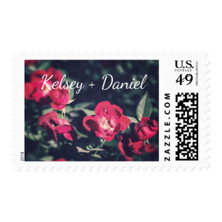 Romantic Garden Flowers - Wedding | Postage Stamp