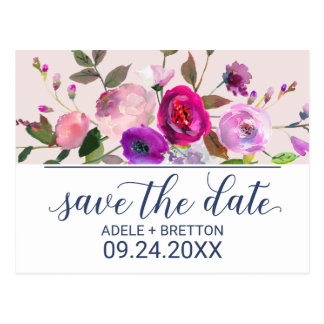 Romantic Garden Save the Date Postcard
