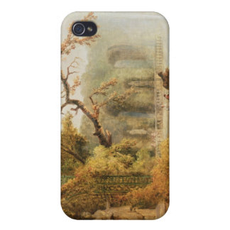 Romantic garden scene iPhone 4/4S covers