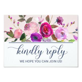 Romantic Garden Song Request RSVP Card