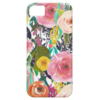 Romantic Garden Watercolor Flowers Barely There iPhone 5 Case