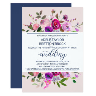 Romantic Garden Wedding Card