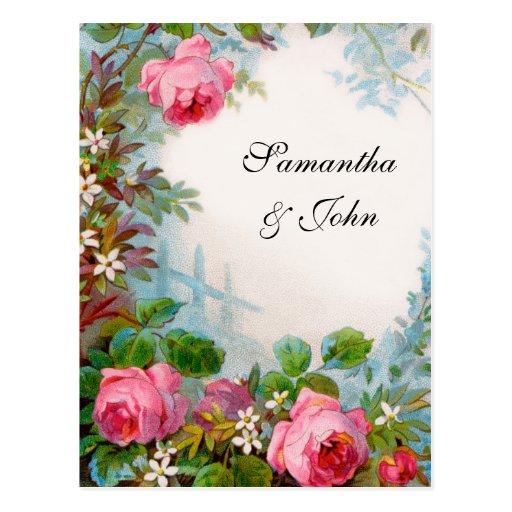 Romantic Garden Wedding Save the Date Postcard