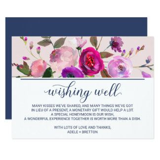 Romantic Garden Wedding Wishing Well Card