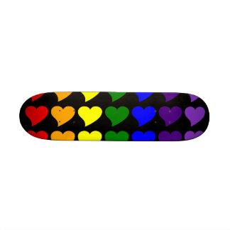 Romantic Gifts for Girls : A Rainbow of Hearts 21.6 Cm Old School Skateboard Deck