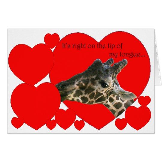 Romantic Giraffe Card
