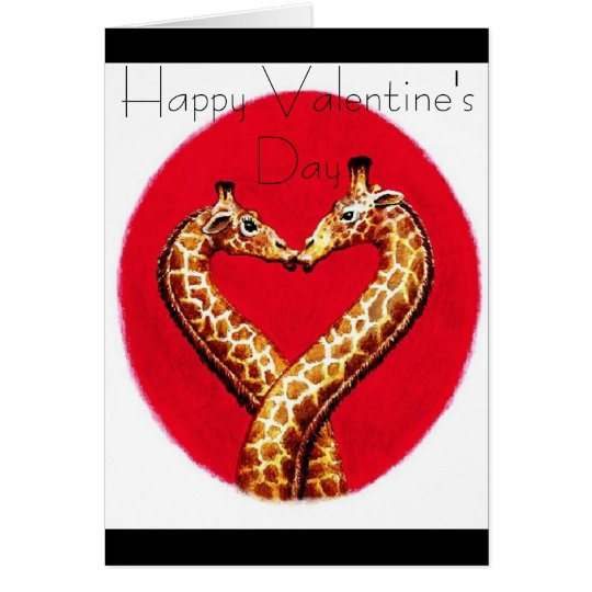 Romantic Giraffe's Card