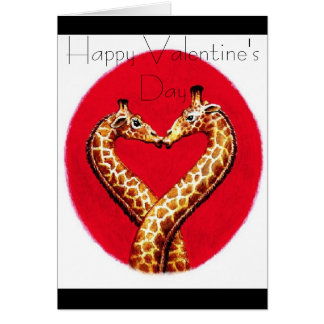 Romantic Giraffe's Greeting Card