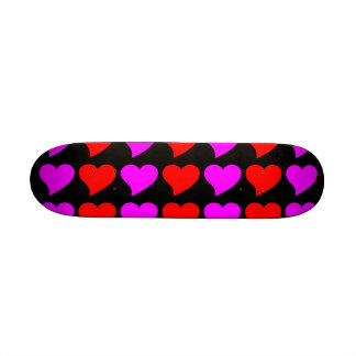 Romantic Girls Gifts Pink red Love Hearts Skate Decks