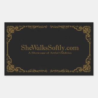 Romantic Gold Rectangular Sticker