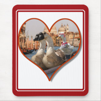 Romantic Gondola Ride Add Your Text Mouse Pad