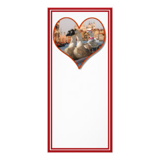 Romantic Gondola Ride for Two Geese Rack Card Design