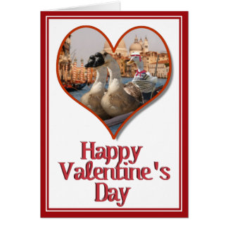 Romantic Gondola Ride for Valentine's Day Card