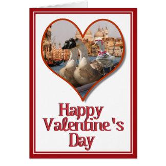 Romantic Gondola Ride for Valentine's Day Greeting Card