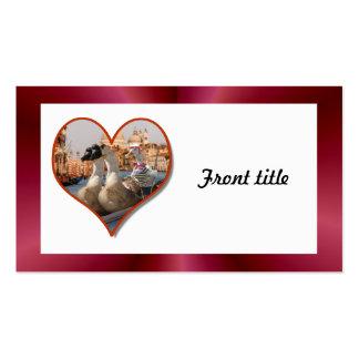 Romantic Gondola Ride w/ Red Satin Background Business Card