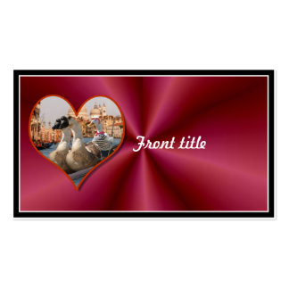 Romantic Gondola Ride w/ Red Satin Background Business Card Templates