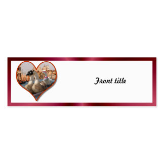 Romantic Gondola Ride w/ Red Satin Background Business Cards