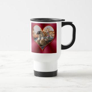 Romantic Gondola Ride w/ Red Satin Background Mug