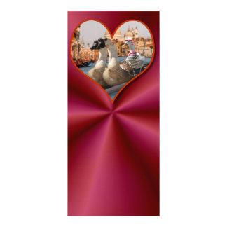 Romantic Gondola Ride w/ Red Satin Background Personalized Rack Card