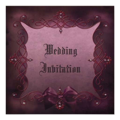 Romantic Gothic Frame Metallic Wedding Invites