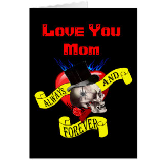 Romantic gothic tattoo mothers day note card