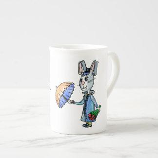 Romantic hare tea cup