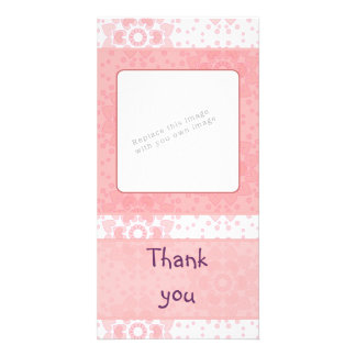 Romantic heart design customised photo card