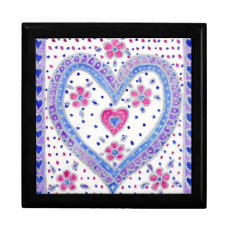 Romantic Heart-design Gift Box, pink and blue Gift Box