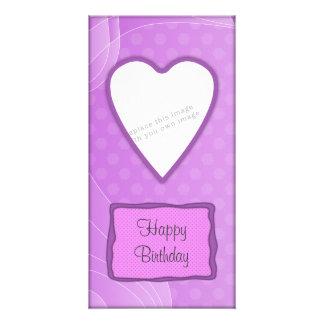 Romantic heart design photo card