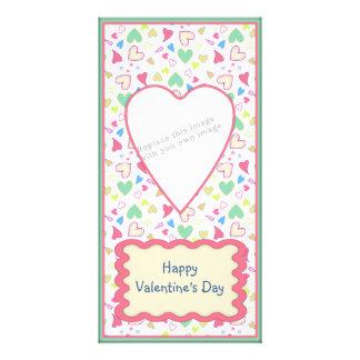 Romantic heart design photo card template